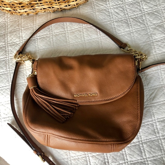Michael Kors Handbags - Michael Kors-Brown Bedford Tassel Med. Crossbody